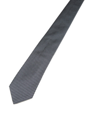 Armani Collezioni: ties & bow ties online - Oblique striped silk tie