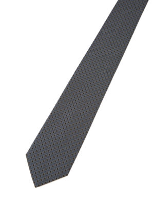 Armani Collezioni: ties & bow ties online - Patterned blue silk tie