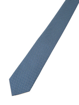 Armani Collezioni: ties & bow ties online - Patterned light blue silk tie