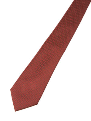 Armani Collezioni: ties & bow ties online - Patterned red silk tie