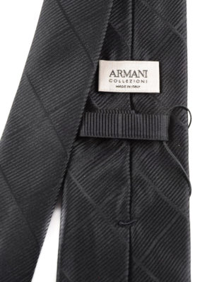 Armani Collezioni: ties & bow ties online - Solid silk jacquard tie