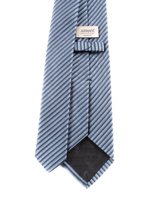 Armani Collezioni: ties & bow ties online - Striped silk tie