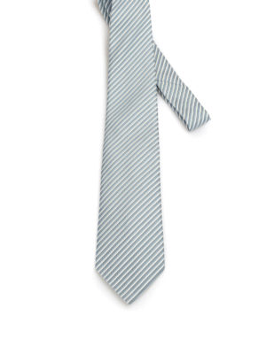 Armani Collezioni: ties & bow ties - Optical geometric pattern silk tie