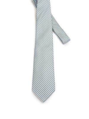 Armani Collezioni: ties & bow ties - Optical geometric pattern silk tie