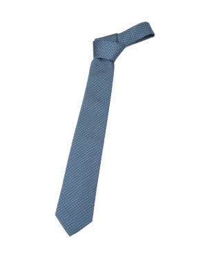Armani Collezioni: ties & bow ties - Patterned light blue silk tie