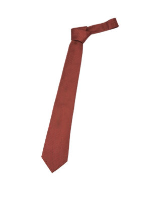 Armani Collezioni: ties & bow ties - Patterned red silk tie