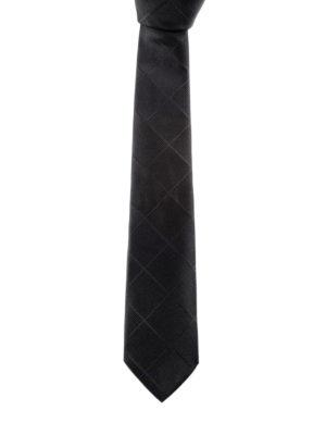 Armani Collezioni: ties & bow ties - Solid silk jacquard tie