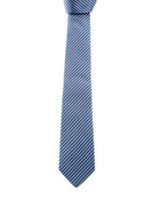 Armani Collezioni: ties & bow ties - Striped silk tie