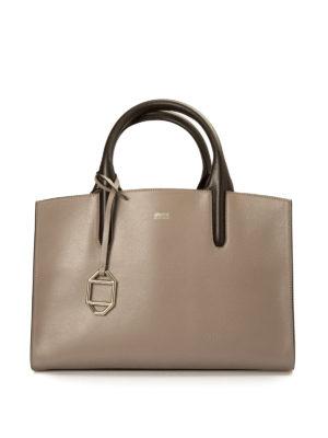 Armani Collezioni: totes bags - Leather open top tote
