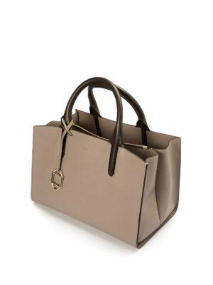 Armani Collezioni: totes bags online - Leather open top tote