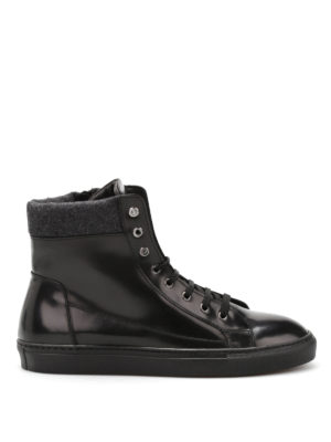 Armani Collezioni: trainers - Leather high top trainers