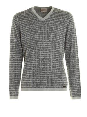Armani Collezioni: v necks - Silk and cotton blend sweater