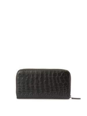 Armani Collezioni: wallets & purses - Croco print leather wallet