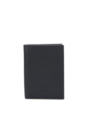 Armani Collezioni: wallets & purses - Hammered leather bi-fold wallet