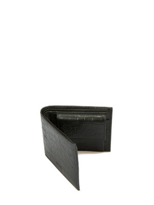 Armani Collezioni: wallets & purses online - Croco print leather bifold wallet