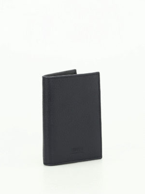Armani Collezioni: wallets & purses online - Hammered leather bi-fold wallet