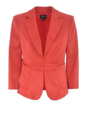 Armani Jeans: blazers - Cotton blend jacquard blazer