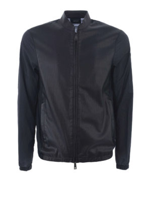 Armani Jeans: casual jackets - Nylon and faux leather jacket
