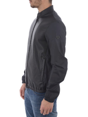 Armani Jeans: casual jackets online - Nylon and faux leather jacket