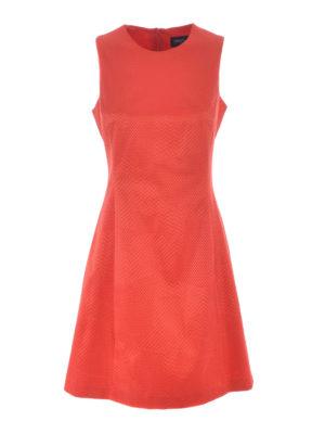 Armani Jeans: knee length dresses - Flared cotton blend jacquard dress