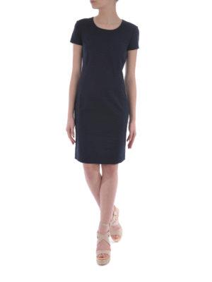 Armani Jeans: knee length dresses online - Cotton blend sheath dress