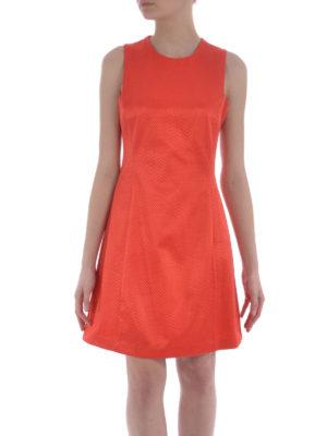 Armani Jeans: knee length dresses online - Flared cotton blend jacquard dress
