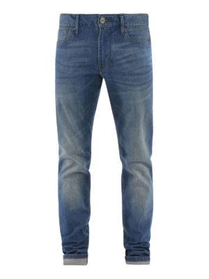 Armani Jeans: straight leg jeans - Faded denim jeans