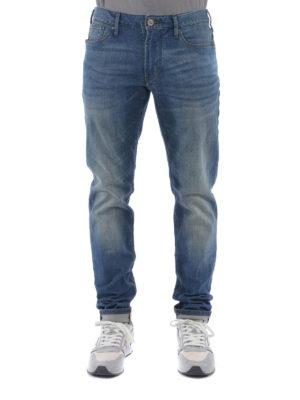 Armani Jeans: straight leg jeans online - Faded denim jeans