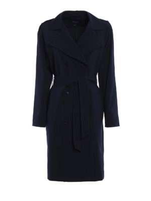 Armani Jeans: trench coats - Lightweight viscose blend trench