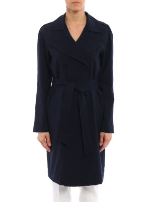 Armani Jeans: trench coats online - Lightweight viscose blend trench