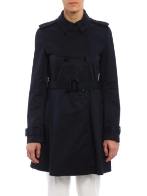 Armani Jeans: trench coats online - Water resistant cotton trench