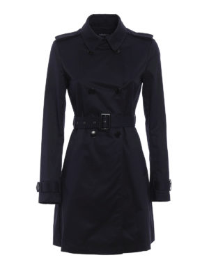 Armani Jeans: trench coats - Water resistant cotton trench