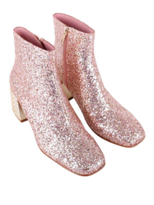 Ash: ankle boots online - Electra glitter leather booties