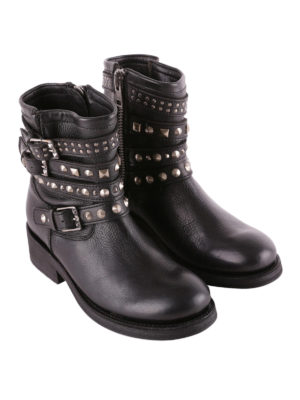 Ash: ankle boots online - Tatoo biker style leather booties