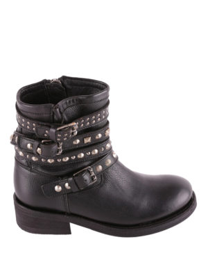 Ash: ankle boots - Tatoo biker style leather booties