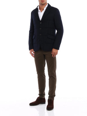 Aspesi: blazers online - Bob wool quilted sporty blazer