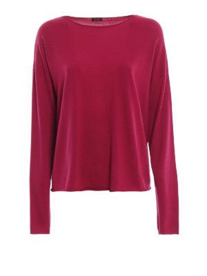 ASPESI: maglia collo a barchetta - Pull a barchetta in lana color fucsia