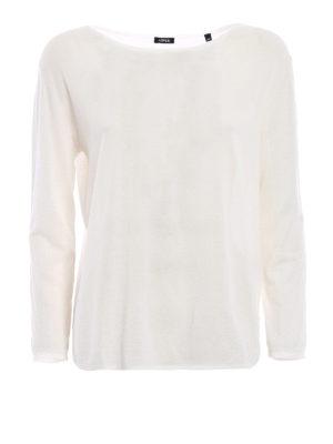 ASPESI: maglia collo a barchetta - Maglia leggera in cotone
