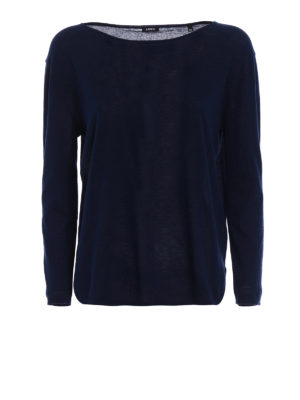 ASPESI: maglia collo a barchetta - Maglia in cotone leggerissimo
