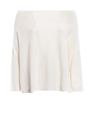 Aspesi: boat necks - White cotton boxy sweater
