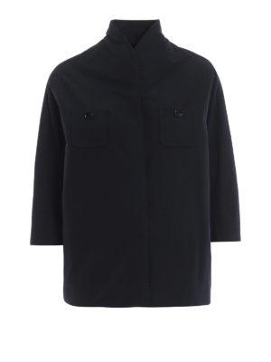 ASPESI: giacche casual - Blazer impermeabile Castagna con linea ad A