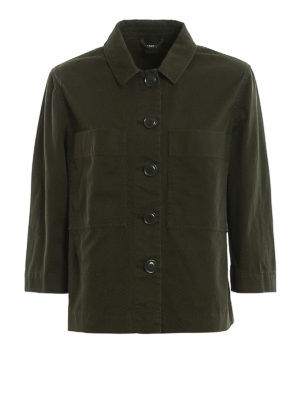 ASPESI: casual jackets - Shirt-style cotton drill shirt