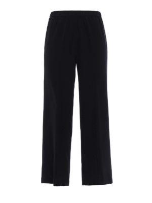 Aspesi: casual trousers - Black silk palazzo trousers