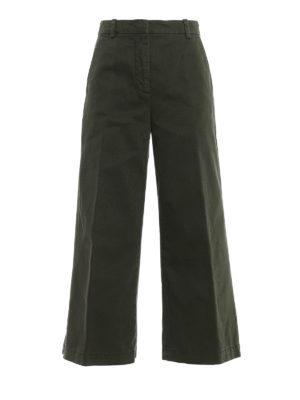 ASPESI: casual trousers - Cotton wide leg trousers