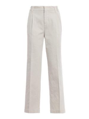 ASPESI: pantaloni casual - Pantaloni casual in cotone con pinces