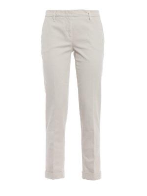 ASPESI: pantaloni casual - Pantaloni a sigaretta in drill di cotone