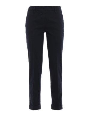 ASPESI: pantaloni casual - Pantaloni in drill di cotone a sigaretta