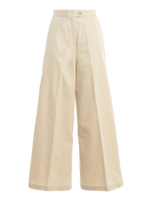 ASPESI: casual trousers - Twill wide trousers