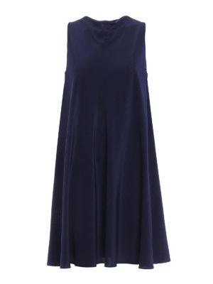 Aspesi: cocktail dresses - Sleeveless flared silk dress