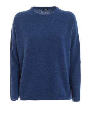 ASPESI: maglia collo rotondo - Pull in lana e angora blu avio